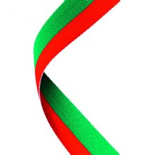 GREEN/RED RIBBON TWO COLOUR